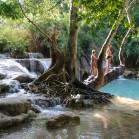 Тарзанка у водопада Куангкси